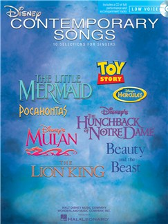 Disney Contemporary Songs For Low Voice (Book/Online Audio) Books and Digital Audio | Low Voice, Piano Accompaniment