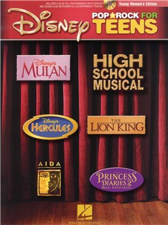 Disney Pop And Rock For Teens - Young Women's Edition (Book/CD) Books and CDs | Young Women's Voice