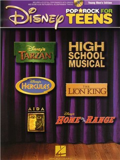 Disney Pop And Rock For Teens - Young Men's Edition (Book/CD) Books and CDs | Young Men's Voice