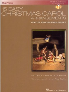 15 Easy Christmas Carol Arrangements (High Voice) Books and CDs | High Voice, Piano Accompaniment