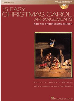 15 Easy Christmas Carol Arrangements (Low Voice) Books and CDs | Low Voice, Piano Accompaniment