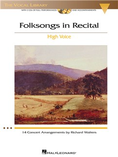 Folksongs In Recital (High Voice) Books and CDs | High Voice, Piano Accompaniment