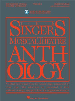 The Singer's Musical Theatre Anthology - Volume 1 (Baritone/Bass) (Book/Online Audio) Books and Digital Audio | Baritone Voice, Bass Voice