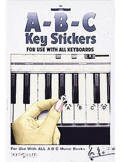 ABC Keyboard Stickers  | Piano