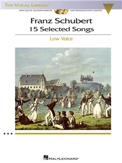 Franz Schubert: 15 Selected Songs - Low Voice (Book And CDs) CD et Livre | Voix Basse, Accompagnement Piano