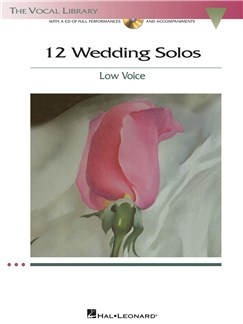 12 Wedding Solos - Low Voice Books and CDs | Low Voice, Piano Accompaniment