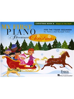My First Piano Adventure - Christmas (Book B - Steps On The Staff) Books | Piano
