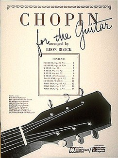 Chopin For Guitar (arr. Leon Block) Books | Guitar