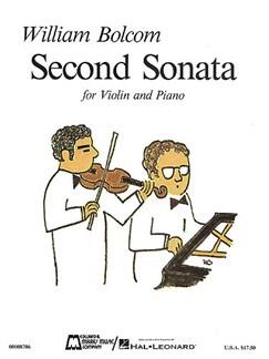 William Bolcom: Second Sonata Books | Violin, Piano Accompaniment
