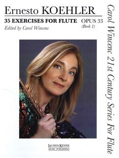 Ernesto Koehler: 35 Exercises For Flute Opus 33 - Book 1 Books   Flute