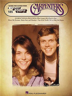 E-Z Play Today 185: The Carpenters Books | Melody line with lyrics and chord symbols