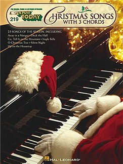 E-Z Play Today 219: Christmas Songs With 3 Chords Books | Melody line with lyrics and chord symbols
