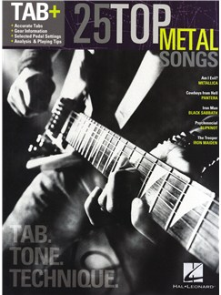 Tab+: 25 Top Metal Songs - Tab. Tone. Technique Books | Guitar Tab