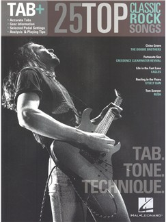 Tab+: 25 Classic Rock Songs - Tab. Tone. Technique Books | Guitar Tab