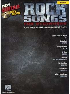 Easy Guitar Play-Along Volume 9: Rock Songs For Beginners Books and CDs | Guitar