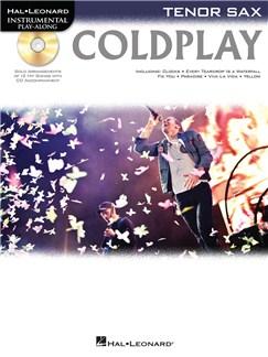 Tenor Saxophone Play-Along: Coldplay CD et Livre | Flûte Traversière