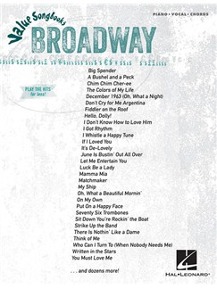 Value Songbooks: Broadway (PVG) Books | Piano, Vocal & Guitar