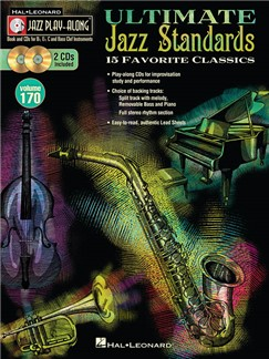 Jazz Play-Along Volume 170: Ultimate Jazz Standards (Book/2 CDs) Books and CDs | B Flat Instruments, E Flat Instruments, C Instruments, Bass Clef Instruments