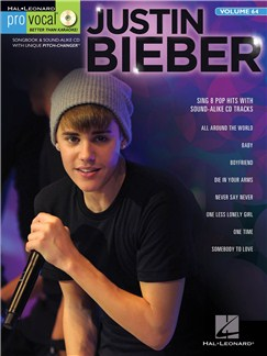 Pro Vocal Men's Edition Volume 64: Justin Bieber Books and CDs | Voice