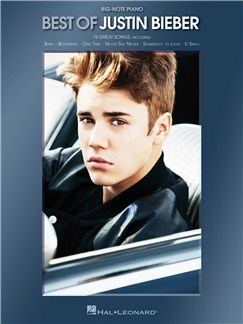 Best Of Justin Bieber - Big-Note Piano Books | Piano
