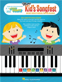 E-Z Play Today Volume 302: More Kid's Songfest Books | Piano, Keyboard, Electric Piano, Organ