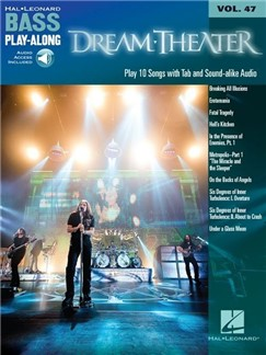 Bass Play-Along Volume 47: Dream Theater (Book/Online Audio) Livre | Tablature Basse