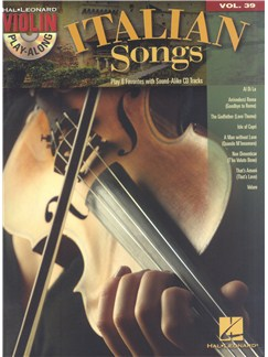 Play-Along Violin: Italian Songs- Volume 39 Books and CDs | Violin