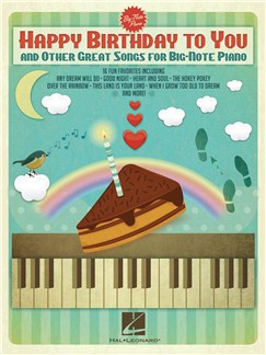 Happy Birthday To You And Other Great Songs For Big-Note Piano Books | Piano, Keyboard