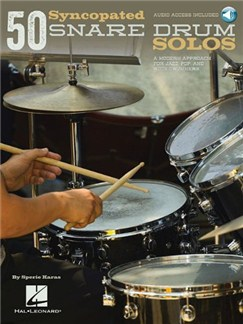 Sperie Karas: 50 Syncopated Snare Drum Solos (Book/Online Audio) Books | Drums