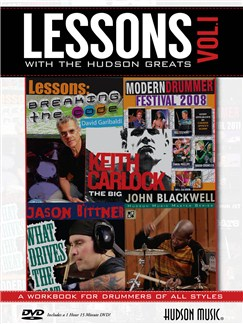 Lessons With The Hudson Greats - Volume 1 Books and DVDs / Videos | Drums