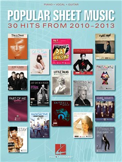 Popular Sheet Music: 30 Hits From 2010-2013 Books | Piano, Vocal & Guitar