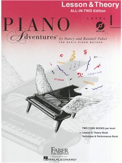 Piano Adventures®: Lesson And Theory Book - Level 1 (Book/CD) Books and CDs | Piano
