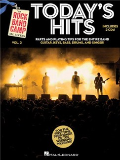Rock Band Camp Volume 2: Today's Hits Books and CDs | Bass Guitar, Keyboard, Guitar, Drums, Voice