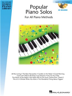 Hal Leonard Student Piano Library: Popular Piano Solos - Level 1 (Book/CD) Books and CDs | Piano
