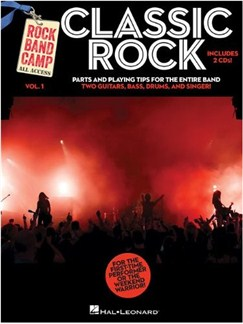 Rock Band Camp Volume 1: Classic Rock Books and CDs | Guitar, Bass Guitar, Voice, Drums