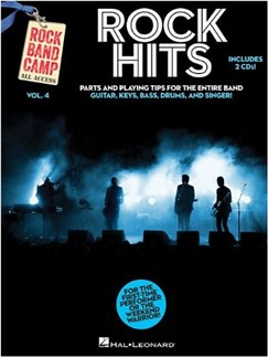 Rock Band Camp Volume 4: Rock Hits Books and CDs | Bass Guitar, Drums, Guitar, Keyboard, Voice