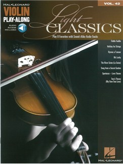 Violin Play-Along Volume 42: Light Classics (Book/Online Audio) Books and Digital Audio | Violin