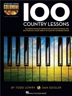 Keyboard Lesson Goldmine: 100 Country Lessons (Book/2 CDs) Books and CDs | Keyboard