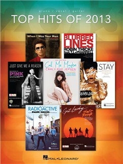 Top Hits Of 2013 Books | Piano, Vocal & Guitar
