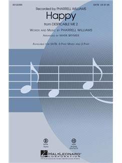 Pharrell Williams: Happy (Arr. Mark Brymer) SATB Books | SATB, Piano Accompaniment