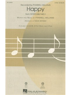 Pharrell Williams: Happy (Arr. Mark Brymer) 2-Part Books | 2-Part Choir, Piano Accompaniment