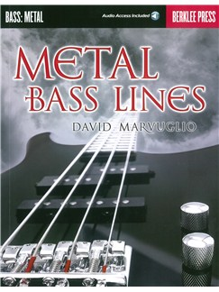David Marvuglio: Metal Bass Lines (Berklee Guide) (Book/Online Audio) Books and Digital Audio | Bass Guitar