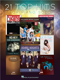 21 Top Hits For Piano Solo Books | Piano
