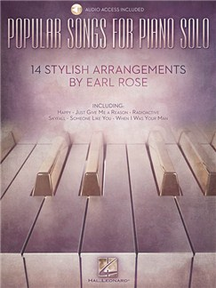 Popular Songs For Piano Solo – 14 Stylish Arrangements By Earl Rose Books | Piano