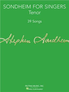 Sondheim For Singers: Tenor Books | Tenor, Piano Accompaniment