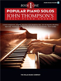 Popular Piano Solos: John Thompson's Adult Piano Course - Book 1 (Book/Online Audio) Books and Digital Audio | Piano