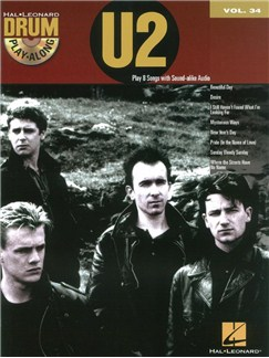 Drum Play-Along Volume 34: U2 (Book/CD) Books and CDs | Drums