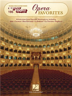 E-Z Play Today 195: Opera Favorites Books | Organ, Piano, Keyboard