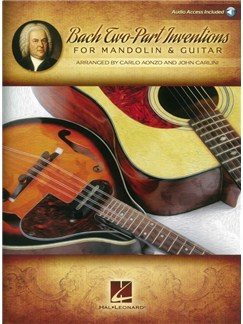 Bach Two-Part Inventions For Mandolin & Guitar (Book/Online Audio) Books and Digital Audio | Mandolin, Guitar
