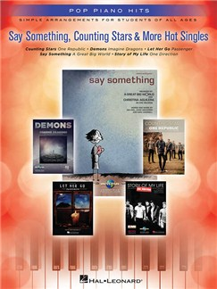 Pop Piano Hits: Say Something, Counting Stars & More Hot Singles Books | Piano, Vocal & Guitar
